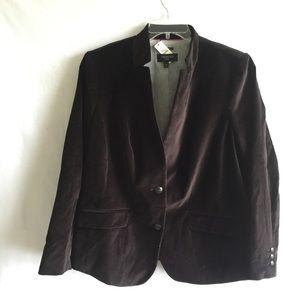 TALBOTS || NEW $169 velvet jacket blazer coat